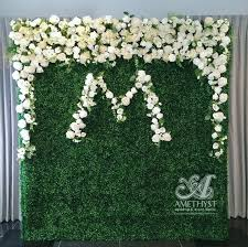 Flower Wall Boxwood Flower Wall Click For More Info Amethyst Wedding