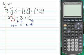 solving matrix equations using inverse matrices