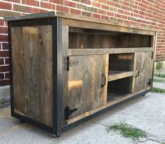 Custom Made Rustic Industrial Reclaimed Wood Entertainment Center Rustic Entertainment Center E47