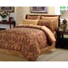 red brown and gold comforter sets beautiful rich elegant set 8 pc cal king queen 0