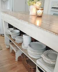 country farmhouse furniture. i moved our everyday dishes to the shelf on vintage island makes unloadingu2026 country farmhouse furniture