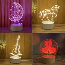 Bán [Chọn Mẫu - Video] Đèn ngủ 3d led để bàn đèn trang trí, quà tặng sinh  nhật độc đáo thông minh đẹp hơn đèn cảm ứng, treo tường, silicon chỉ  68.000₫