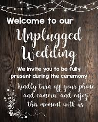 No Cell Phone Sign Printable Unplugged Wedding Rustic Sign Printable