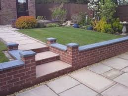 Small Picture Brick Block and Sleeper Retaining Walls
