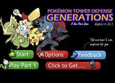 Pokemon Tower Defense 1 Games