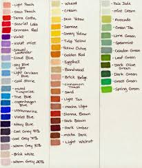 Yay Homemade Color Charts Prismacolor Marker Palette By