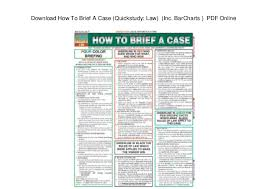 Download How To Brief A Case Quickstudy Law Inc
