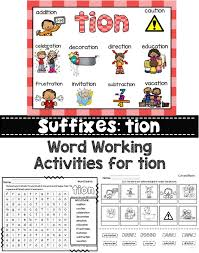 Phonics is a method of teaching kids to learn to read by helping them to match the sounds of letters, and groups of letters, to distinguish words. This Is A Set Of Word Working Activities For Suffixes Tion Provide Extra Practice With These Fun And Engaging Act Suffix Tion Teaching Spelling Phonics Sounds