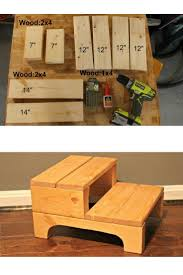 Step Stool Plans Designs How To Make A Simple Step Stool Doing Wood Work