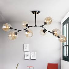 new modern led chandelier bubble glass shade art deco pendant chandelier ceiling indoor lighting diy iron branching chandeliers chandeliers for