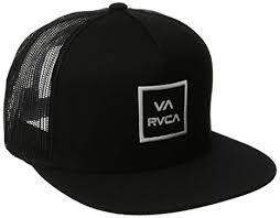 RVCA Men\u0027s Va All The Way Mesh Back Trucker Hat, Black, One Size Amazon.com: Black
