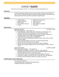 Best Apprentice Plumber Resume Example Livecareer