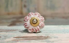 Porcelain Door Knobs - Pink