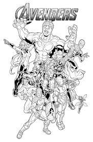 Small Picture Coloring Pages Avengers Coloring Pages And Book