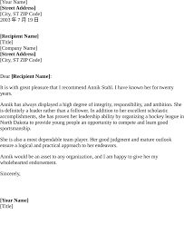 Example Of Reference Personal Reference Letter For A Friend Examples Of Reference