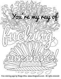 Swear Words Coloring Pages Curse Word Pleasant Adult 20481582
