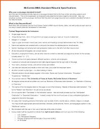 Mccombs Resume Format Mccombs Resume Format Mba Template Ut voZmiTut 13