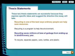 recycling thesis statement examplesthesis statement for recycling essay recycling thesis statement examples