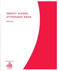 Sunday School Report Card Template Sunday School Attendance Book Form 182 S Record Book