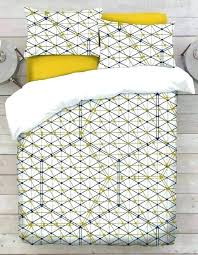 geometric design bed sheets modern navy blue and white cotton duvet cover hex lines bedding mustard