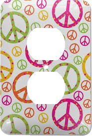 Design Your Own Bmx Plate Peace Sign Electric Outlet Plate Personalized Amazon Com