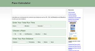 5k Running Pace Chart Access Pace Calculator Com Pace Calculator Calculate Your