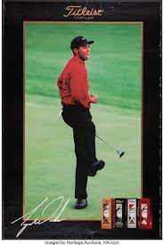 Tiger Woods Titleist Advertising Poster. ... Golf Collectibles Art | Lot  #43150