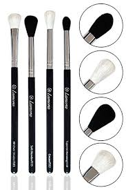 best contour brush. pro blending brush set - smoky eye shadow contour kit 4 essential shapes best s