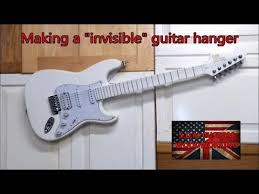 making a invisible guitar hanger