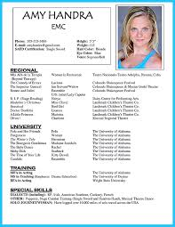 Great Acting Resume Template With Photo And Profile Names Plus