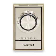 1a66 641 white rodgers 1a66 641 beige line voltage wall t498 gold electric heat thermostat w position <br> off range stops