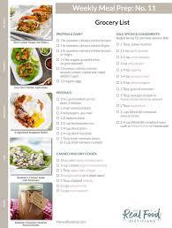 Weekly Menu For One 12 Meal Prep Menus Grocery Lists The Real Food Dietitians