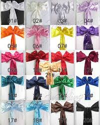 free 10pcs 15x275cm 6 x108 premium satin chair cover sash bow wedding party banquet decor chair sashes