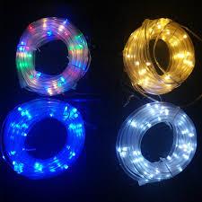 12M 100leds Solar LED String Lights Outdoor 4 Colors Rope Tube Led