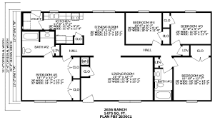 Floor Plans For Ranch Style Homes | Bedroom Ranch Style Home Plans