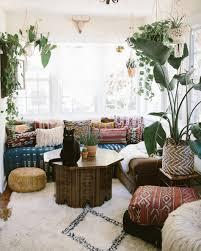 Bohemian Decorating Ideas Living Room Poufs