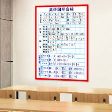 The international phonetic alphabet (ipa) is intended to represent pronunciation. English International Phonetic Alphabet English Alphabet Primary School Students English Basic Learning Wall Stickers Wall Chart Waterproof Adhesive