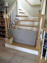 that gate just rests between the spindles of the stairs you can slide it back and forth to get through tutorial sew many ways