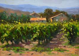 tuscany village countryside of italy italian landscape oil painting impressionist style paysage