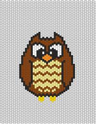 <b>Little</b> Owl | Peyote stitch patterns, Pony bead patterns, Peyote patterns