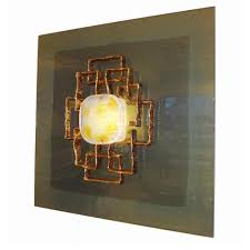 angelo brotto large lit wall sculpture