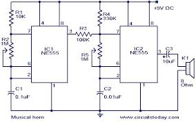 musical horn circuit electronic circuits and diagram Electronic Circuit Diagrams musical horn circuit jpg electronics circuit diagrams