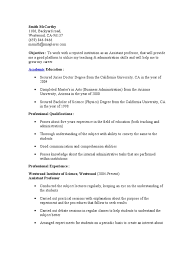 Professor Resume. Collection of Solutions Sample Resume Of Assistant ...