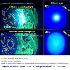 Professional Grade Black Light Black Light 365nm Uv Flashlight Jaxman Upgraded High Power