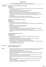 Product Manager Resume Sample Product Manager Marketing Traditional 1100100 Resume Examples Advice 100a 7