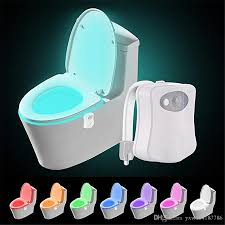 Light Pink Toilet Seat Cover 2019 Olorful Motion Sensor Toilet Night Light Home Toilet Light Bathroom Human Body Auto Motion Activated Sensor Toilet Seat Lights Lamp From