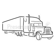 truck drawing outline. Delighful Outline Semi Truck Outline Drawing  Presentation Clipart Great For  Presentations WwwPresenterMediacom With T
