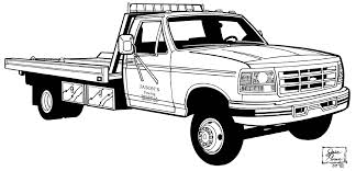 Small Picture Free Coloring Pages Of Flat Bed Tow Trucks 9473 Bestofcoloringcom