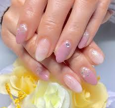 ピンク白グラデエレガントネイル 京都宇治のネイルサロン nail