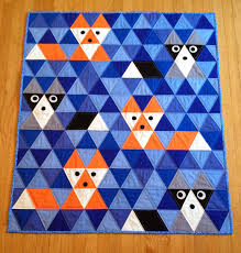 Sew Fresh Quilts: Equilateral Triangle Quilt Along & Linda's Fox & Friends quilt! Adamdwight.com